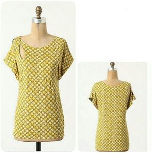 Anthropologie Meadow Rue Yellow Top